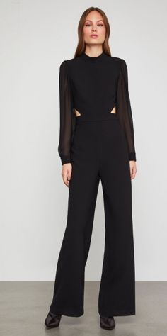 ea3a646c680 Mock Neck Cutout Black Jumpsuit from  BCBG ~ Today s Fashion Item  Jumpsuit  Dress The