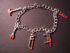 Hey, I found this really awesome Etsy listing at https://www.etsy.com/listing/153017686/charm-bracelet-bloody-weaponstools