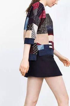 Patchwork Sweatshirt - US$21.95 -YOINS