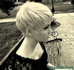 Short Sleek Blonde Bob Hairstyle