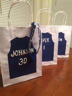 Basketball team gift bags