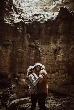 adventurous engagement photos in a cave - creative engagement session - couple portraits - St. Louis Wedding Photographer - The Rowlands Photography and Filmmaking - unique St. Louis photography locations