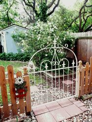 Wrought Iron Gate Handmade To Fit Photos Wrought Iron Welded Steel Garden Gate made Especially to Fit Your Space Our skilled craftsman constructed