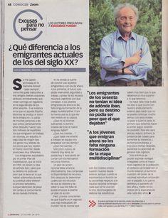 Abril 2014. Eduardo Punset: ¿Qué diferencia a los emigrantes actuales de los del siglo XX?