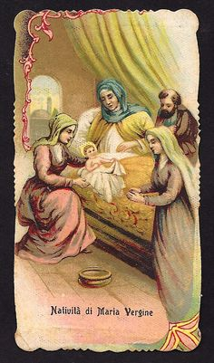 SALE RARE Nativity of the Virgin Mary Holy Card. by Divinegiftshop, $9.00
