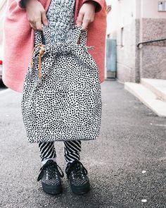 DIY backpack tutorial is now online. ✂️ #sewing #diy #christmascalendar #backpack #marimekko #favorite #bag