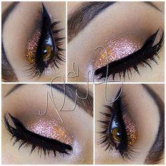 Shimmer rose gold eyeshadow