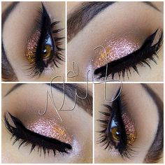 Shimmer rose gold eyeshadow