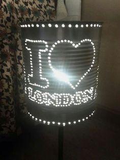 Lámpara 'London' #reciclaje #decoracion #latas