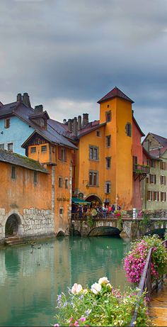 : Annecy, France creativelolo is an independent artist creating amazing designs for great products such as t-shirts, stickers, posters, and phone cases. France Photography, City Photography, Beautiful Buildings, Beautiful Places, Places To Travel, Places To Visit, Lake Annecy, Annecy France, Visit France
