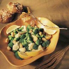 Cauliflower and Broccoli with Roasted Garlic Cloves Recipe