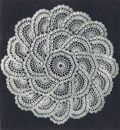 Vintage Crochet Knitting Motif Patterns Tablecloth Doily Luncheon Sets Place Mat | eBay