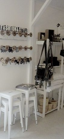 wish I had these spools with chain hanging on walls in my space....<3.  May have to figure that one out