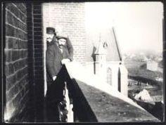 De laatste klokkenluiders van Veghel op de toren van de Sint Lambertus Kerk; Frans van Zutphen, Herman Callaars (was kleermaker en barbier en is mijn op) en Harrijke v.d. Heiden