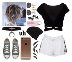 """""""Be fashion #107"""" by anafilipaa27 ❤ liked on Polyvore featuring adidas Originals, Converse, Various Projects, Chopard, Vans, WALL and NLY Trend"""