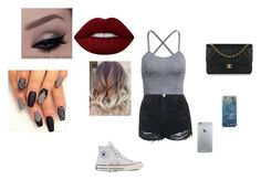 """""""❤️💜💛💚💙"""" by nathalye-1 on Polyvore featuring beauty, Topshop, Converse, Lime Crime and Chanel"""