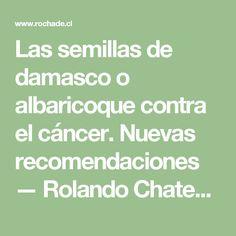 Las semillas de damasco o albaricoque contra el cáncer. Nuevas recomendaciones — Rolando Chateauneuf