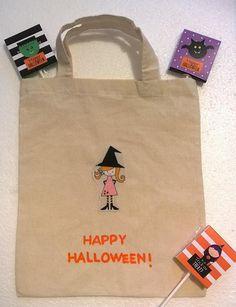 Halloween borsina strega dolcetto o scherzetto trick or treat