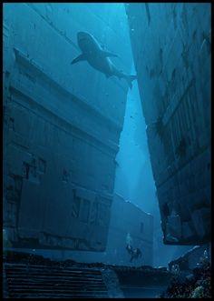 ArtStation - Underwater Ruins, Raphael Lacoste