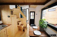 An interior shot of the Escapade tiny house