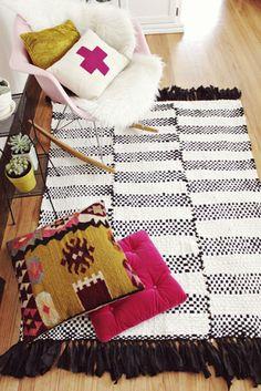 Decor Inspiration: {DIY woven rug}