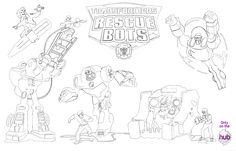 rescue bots coloring pages | Outnumbered 3 to 1: New Transformers TV Series for Kids on The Hub ...