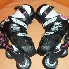 Patines niña cuatro ruedas en linea Oxelo 19.95€ www.ahorrochildren.es