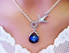 A very charming blue gemstone necklace :)  #Wedding #Something Blue