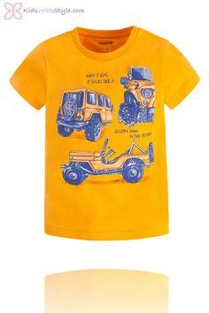 Boys Graphic Jeep T-Shirt in Yellow Young Boys Fashion, Boy Fashion, Spring Fashion, Basic Wardrobe Essentials, Wardrobe Basics, Back To School Shopping, Back To School Outfits, Yellow Shop, Stylish Boys