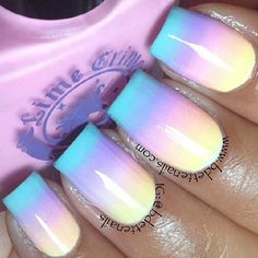 Sugary sweet gradient nails by bdettenails using Lime Crime polishes in Crema De Limon,
