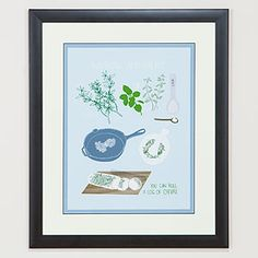 """""""Savory Herb"""" by Claudia Pearson...love her prints for the kitchen"""