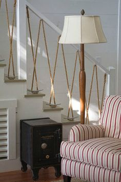 Sally Lee by the Sea | Rope Can Be a Beautiful Home Accent | http://nauticalcottageblog.com