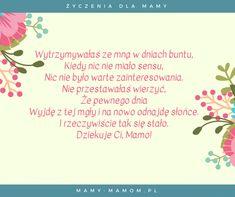 Życzenia dla Mamy - wierszyki na Dzień Mamy - Mamy-mamom.pl