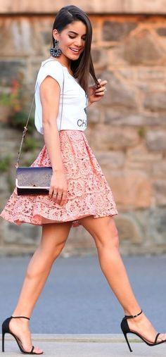 Alfreda Peach Pleated Mini A-line Mini Skirt