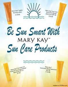 Are your Mary Kay® customers overlooking your Sun Care items? http://www.blog.qtoffice.com/bid/98630/Are-your-Mary-Kay-customers-overlooking-your-Sun-Care-items