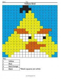 Angry Birds- Multiplication and Division Free Math Coloring Pages