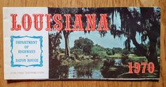 Vintage Louisiana Road Map - 1970 Department of Highways Baton Rouge by…