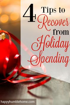 4 Tips to Recover from Holiday Spending! I was so broke after Christmas, this really helped me get back track!! #2 is so smart! I'm going to keep doing that for a long time!!