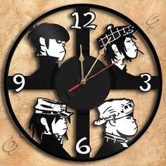 Wall Clock Gorillaz Version2 Vinyl Record Clock by geoartcrafts