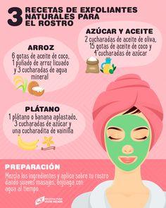 3 recipes for natural facial scrubs Facial Tips, Facial Care, Skin Tips, Skin Care Tips, Beauty Care, Beauty Skin, Natural Exfoliant, Face Skin Care, Body Treatments