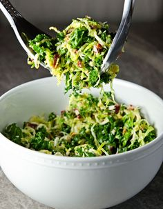 Kale + Brussels Sprouts Salad.
