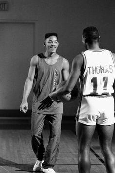 Isiah Thomas & Will Smith Basketball Tumblr, Basketball Moves, Basketball Skills, Love And Basketball, Basketball Jersey, Basketball Players, Basketball Girlfriend, Basketball Couples, Pistons Basketball
