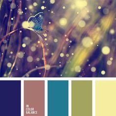 amarillo pálido, color amarillo verdoso, color cacao, color verde hierba, color violeta azulado, colores para la decoración, paletas de colores para decoración, paletas para un diseñador, selección de colores.