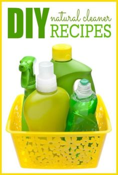DIY Natural Cleaner Recipes -- Simple ingredients + easy recipes makes for a non-toxic and frugal household cleaner!