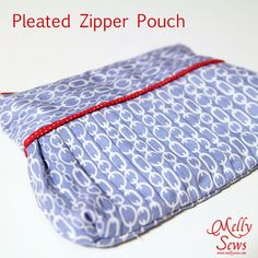 Easy Pleated Zip Pouch