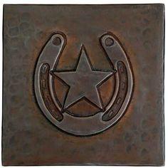Copper Tile (TL810) Horse Shoe/Star Design