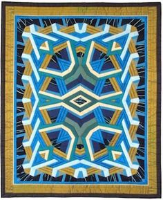 All That Glitters Crystal Quilt by Dena Dale Crain. Online Class featured at Art Retreat Guide - QuiltEd Online Quilting Tutorials, Quilting Designs, Quilt Design, Quilting Tips, Quilts Online, Cute Quilts, Textile Fiber Art, Contemporary Quilts, Quilted Wall Hangings