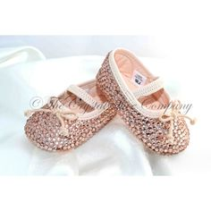 Baby Swarovski Crystal pram Shoes 0-3,3-6,6-9,9-12 months bridesmaid ($86) ❤ liked on Polyvore