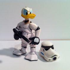 Donald Duck Storm Trooper. The helmet seals the deal!