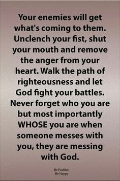 The bible tells us vengeance is the Lords. Walk in faith, remember whose you are. God will fight your battles. Isn't that awesome! Prayer Scriptures, Faith Prayer, God Prayer, Bible Verses Quotes, Faith Quotes, Me Quotes, Biblical Quotes, Scripture Verses, Quotes About God